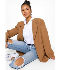 oversized pocket detail dad blazer, camel