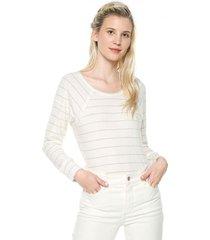 camiseta manga larga blanco-plateado esprit