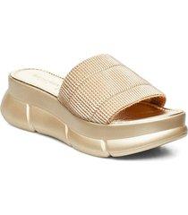 slip-on sandals shoes summer shoes flat sandals beige ilse jacobsen