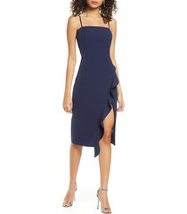 women's bardot carmelle cocktail dress, size medium - blue