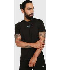 camiseta negro-azul reebok speedwick move