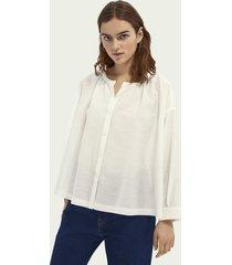 scotch & soda tencel™ & ecovero™ blend button down shirt