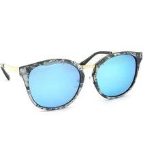 óculos de sol marmorizado lente espelhada
