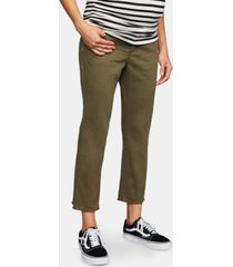 a pea in the pod maternity side panel cropped pants