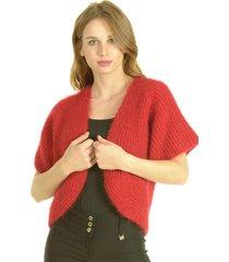 chaqueta lana rojo bou's