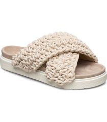 slipper woven shoes summer shoes flat sandals beige inuikii