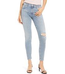 women's agolde sophie ankle skinny jeans, size 30 - blue