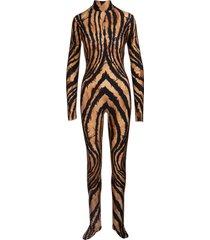roberto cavalli jumpsuit with freedom print