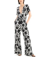 inc international concepts printed jumpsuit, created for macy's