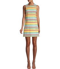 coley graphic stripe shift dress