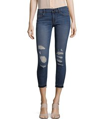 9326 ripped low rise crop skinny jeans
