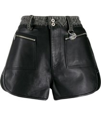 diesel denim waisted a-line shorts - black