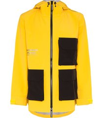 pas normal studios off-race shield jacket - yellow