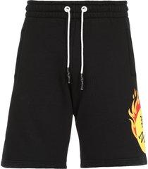 palm angels burning head shorts