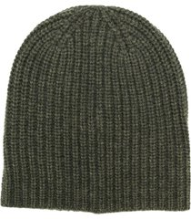 alex mill ribbed knit beanie - green