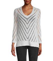 gentle breeze open-weave sweater