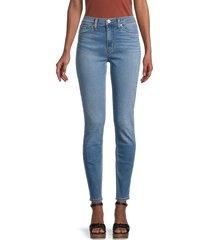 hudson women's blair high-rise skinny jeans - lilah - size 29 (6-8)