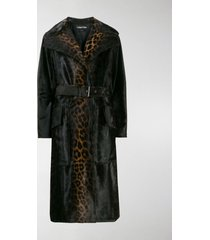 tom ford leopard print belted coat