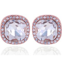 t tahari essential stud clip earrings