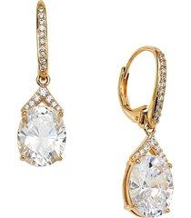 adriana orsini women's 18k goldplated & crystal dangle earrings