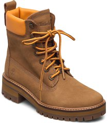 courmayeur valley yellow boot shoes boots ankle boots ankle boot - flat brun timberland