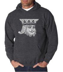 la pop art men's word art hooded sweatshirt - king of spades