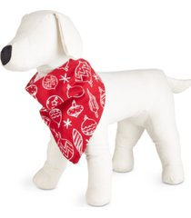 matching ornament-print family pajama pet bandana