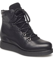 claus_sty_ks shoes boots ankle boots ankle boots flat heel svart unisa