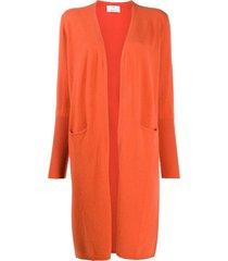 allude long-line pocket cardigan - orange