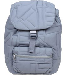 kenzo arctic backpack in quilted nylon color gray