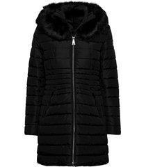 jacket wadding gevoerde lange jas zwart betty barclay