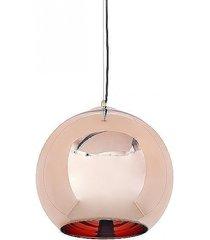 lampa wisząca ball mirror miedziana l