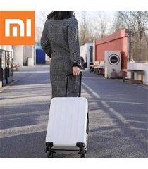 xiaomi 90fun 20 pulgadas pc maleta llevar equipaje de vacaciones tsa lock viajes de negocios - blanco