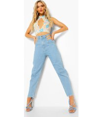 boyfriend jeans met uitgesneden taille, light blue