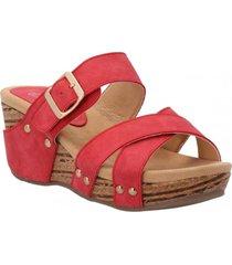 sandalia mujer billa rojo azaleia