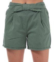 vero moda womens flame bow high rise shorts size 6 in green