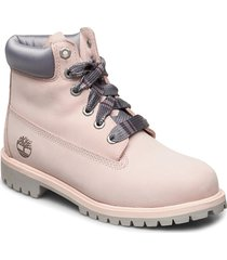 6 in prem wp bt lt pink shoes boots ankle boots ankle boot - flat rosa timberland