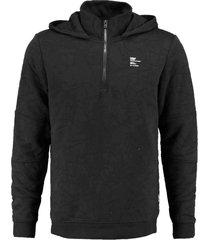 jack & jones zwarte structure sweater hoodie