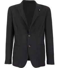 lardini single-breasted merino wool jacket