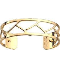 les georgettes by altesse large chamber openwork thin adjustable cuff tresse bracelet, 14mm, 0.5in