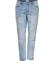 boyfriend jeans tonni sport gestreepte enkel
