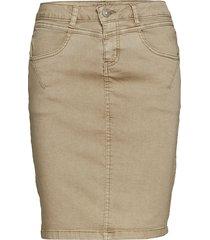 amalie skirt - knee lgd. kort kjol beige cream