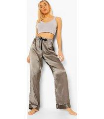 mix & match satijnen pyjama broek, zilver