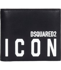 dsquared2 wallet in black leather