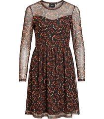 knielengte jurk gedessineerde