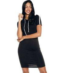 vestido negro-blanco active