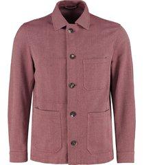 doppiaa aasti button-front cotton jacket