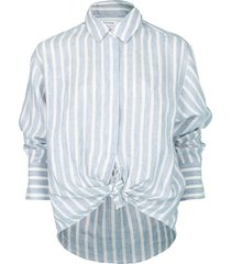 chambrary tie up shirt