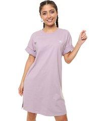 vestido  lila  adidas originals trefoil dress