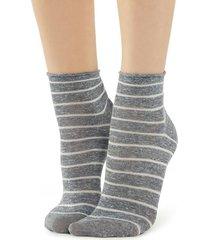 calzedonia fancy striped socks woman grey size tu